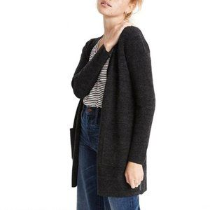 Madewell Donegal Kent Cardigan Sweater Charcoal M